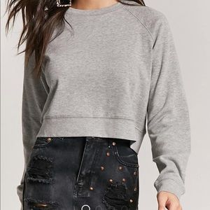 Sweatshirt Cropped Grey from Forever 21
